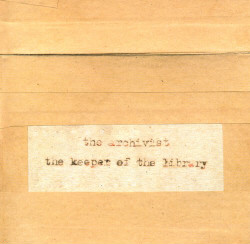 The Archivist - The Keeper of the Library (Limited Handmade Edition) (2CD) (2009)